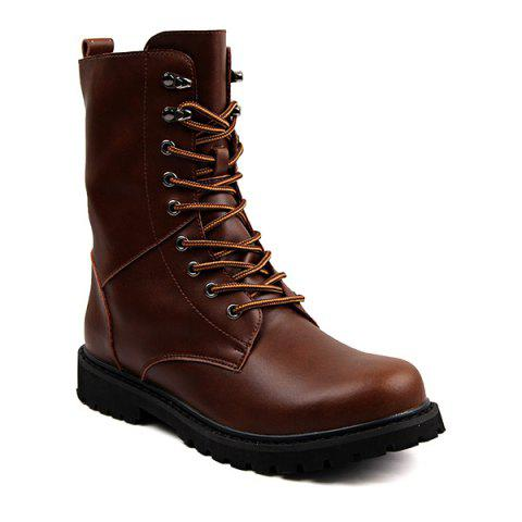 Men's Plus Size Outdoor High Boots - BROWN EU 39