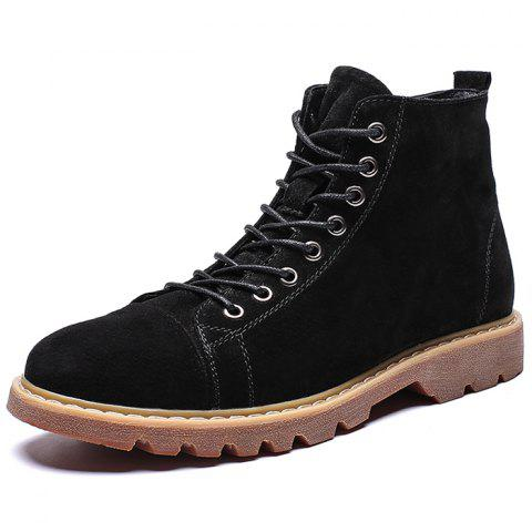 Men's Comfortable High-top Plus Size Boots - BLACK EU 46