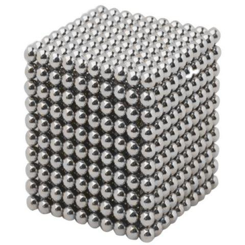 5mm Arbitrarily Stitching Deformable Buck Ball Children Educational Toys 1000pcs - SILVER