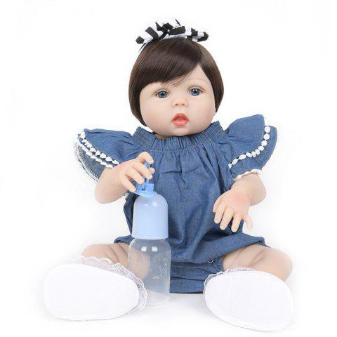 WW - 744 Simulation Reborn Baby Doll Ornament Toy - PEACOCK BLUE