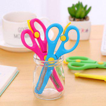 Kids Colorful Plastic Safety Blunt Training Scissor Art DIY Craft Paper Cutting Stationery for Preschoolers Toddlers Student 3pcs - multicolor