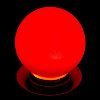 1W E27 80LM LED Globe Light for Decoration 1pc - RED