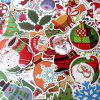 Non-repetitive Colorful Christmas Decoration Stickers 100pcs - multicolor