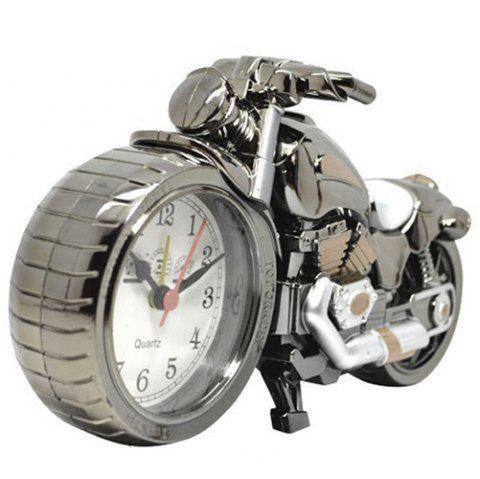 Creative Retro Motorcycle Alarm Clock Gift Desk Ornament - multicolor B