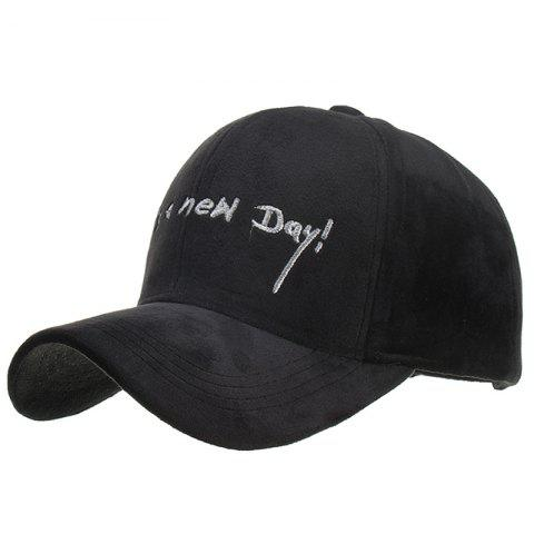 Fashion Embroidery Design Polyester Baseball Cap - BLACK