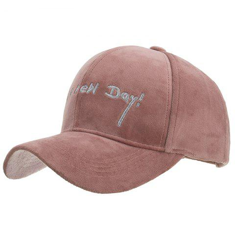 Fashion Embroidery Design Polyester Baseball Cap - PINK