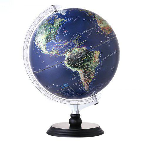 12 inch Illuminated Blue Ocean Globe Educational Toy for Kids - BLUEBERRY BLUE