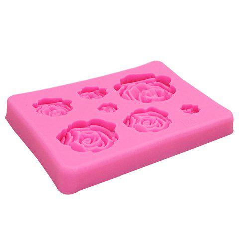 Silicone Flowers Cake Mold Decorating Tool - PINK
