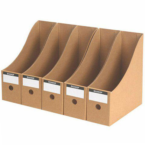 Desktop Kraft Paper Document Storage Box 5pcs - BEE YELLOW