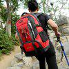 Outdoor Water-resistant Large Capacity Nylon Travel Sports Backpack - RED
