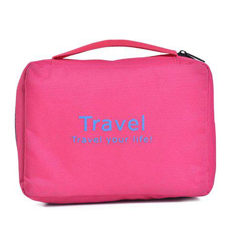 Leisure Traveling Cosmetic Bags - ROSE RED