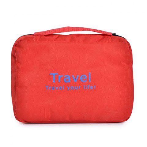 Leisure Traveling Cosmetic Bags - RED
