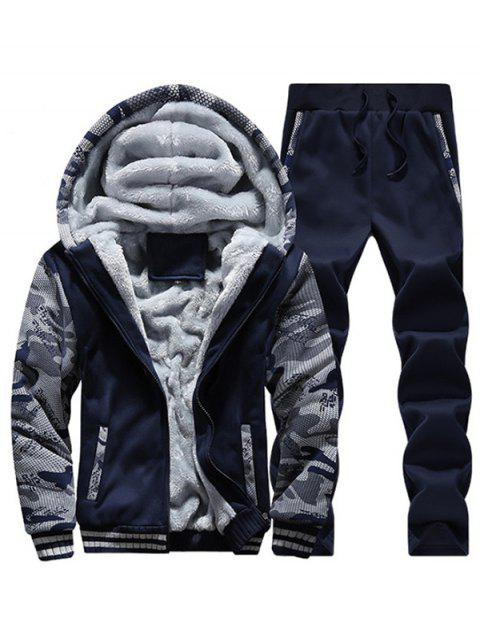 Thickening Winter Tracksuit for Men - DEEP BLUE L
