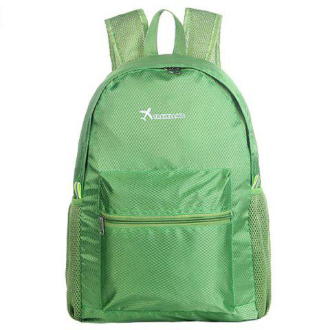 Outdoor Foldable Water-resistant Durable Travel Sports Backpack - ALGAE GREEN