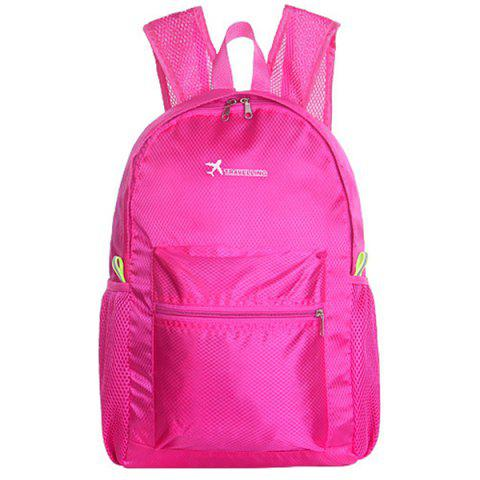 Outdoor Foldable Water-resistant Durable Travel Sports Backpack - NEON PINK