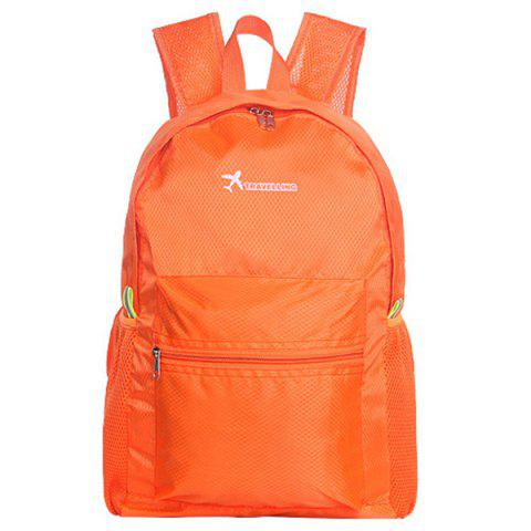 Outdoor Foldable Water-resistant Durable Travel Sports Backpack - MANGO ORANGE