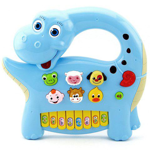 Cute Cartoon Electric Dinosaur Shape Piano Toy for Kids - multicolor A