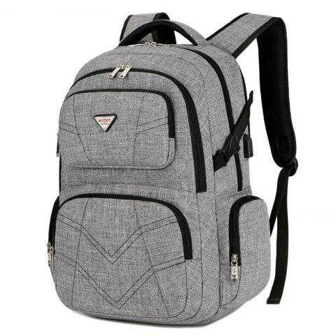 SOCKO Fashionable Backpack with USB Port - GRAY