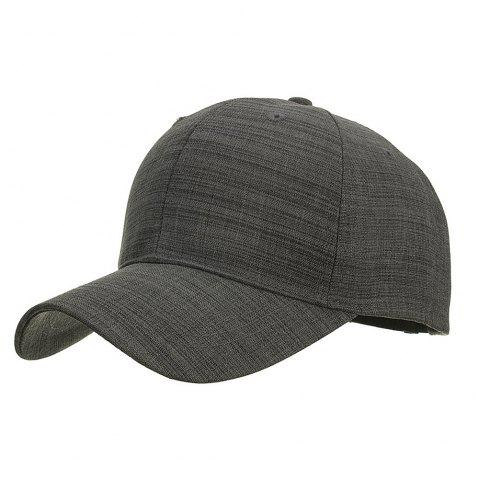 Fashion Breathable Classic Stripe Baseball Cap for Men - CARBON GRAY
