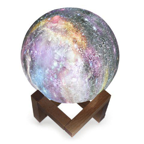 Creative Painted Starry 3D Moon Night Light - multicolor