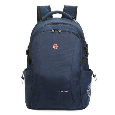 Unisex Large Capacity Oxford Fabric Backpack - DARK SLATE BLUE