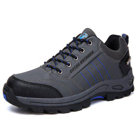 Stylish Warm Leather Sport Shoes for Men - GRAY EU 41