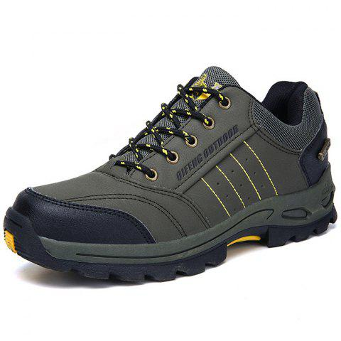 Stylish Warm Leather Sport Shoes for Men - ARMY GREEN EU 42