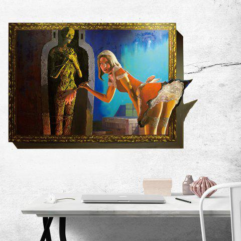 014 Creative 3D Sexy Woman Pattern Wall Sticker for Halloween - multicolor 40 X 61CM