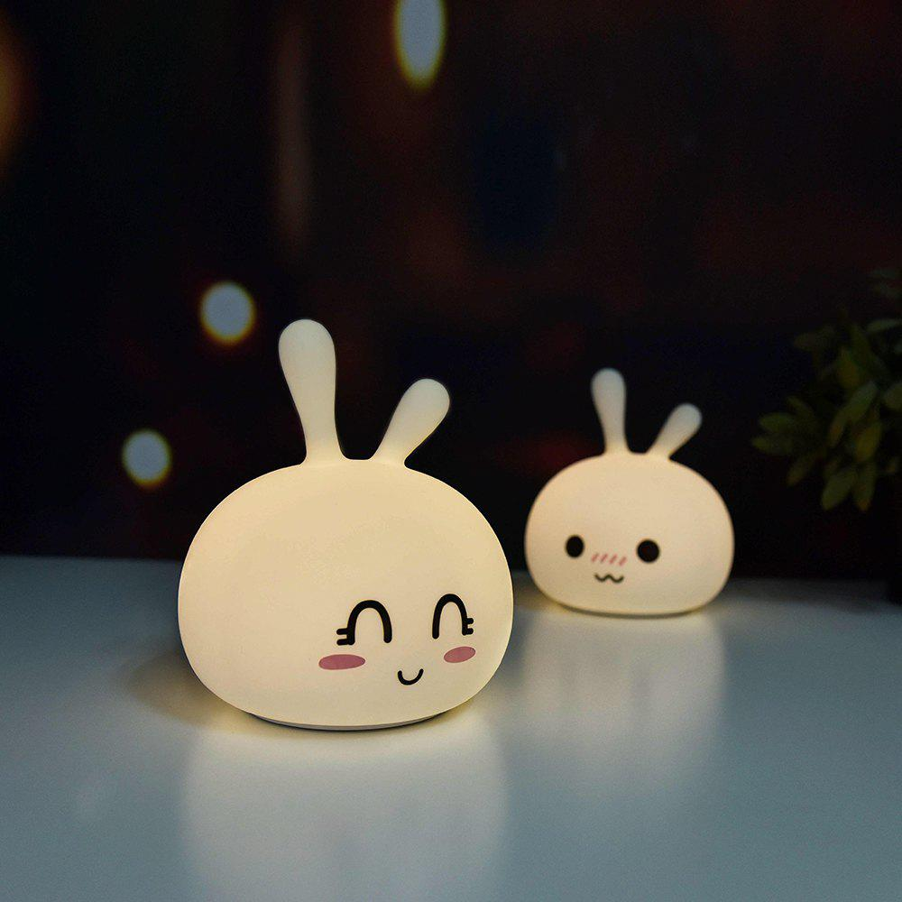 41 Off 2021 Ljc 122 Rechargeable Cute Bunny Silicone Light In Milk White Dresslily