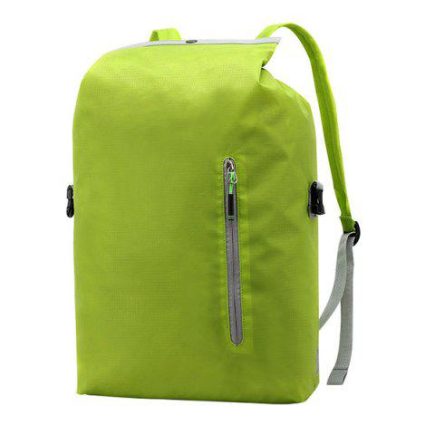 SONGKUN Lightweight Foldable Water-resistant Laptop Backpack - GREEN YELLOW