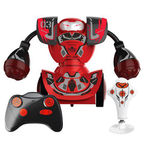 Boxing Fight Double Play Robot Children Intelligent Remote Control Toy - CHESTNUT RED
