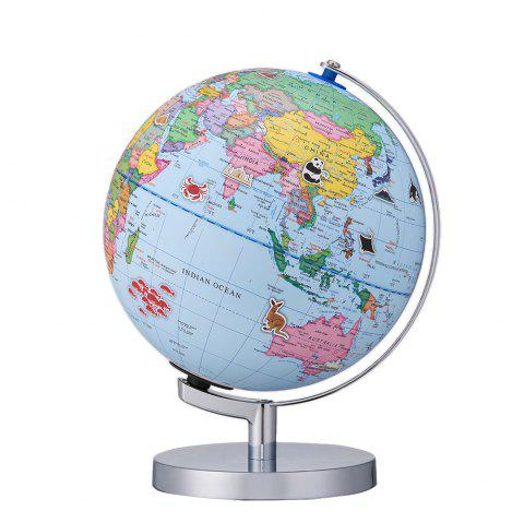9 inch AR 3D Desktop World Globe with Blue Oceans Interactive Toy for Kids - BLUE IVY