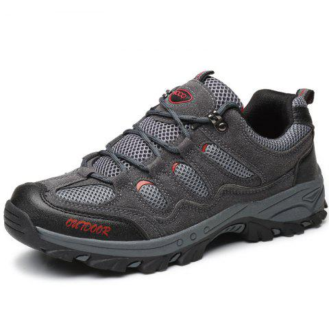 Outdoor Hiking Sneakers Running Sports Shoes - GRAY EU 40