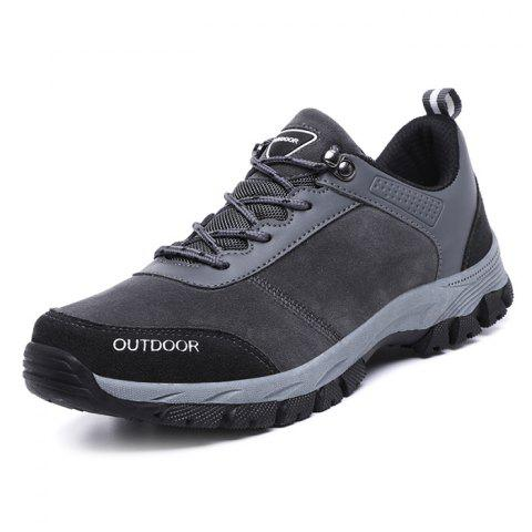 Outdoor Shock-absorbing Crash Toe Hiking Shoes for Men - GRAY EU 44