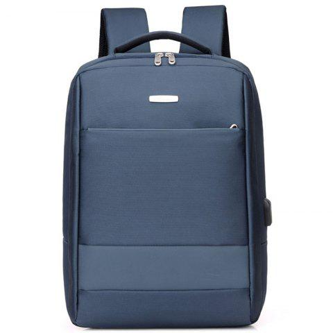 leimande 6118 USB Port Design Backpack - MARBLE BLUE