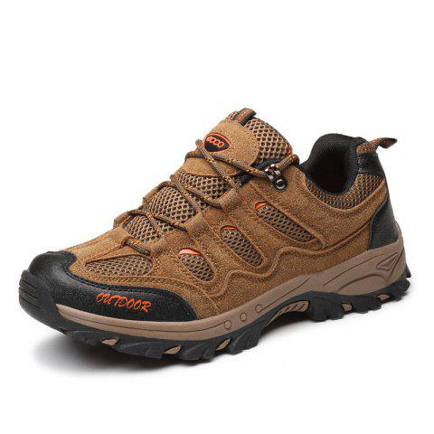 Outdoor Hiking Sneakers Running Sports Shoes - BROWN EU 42