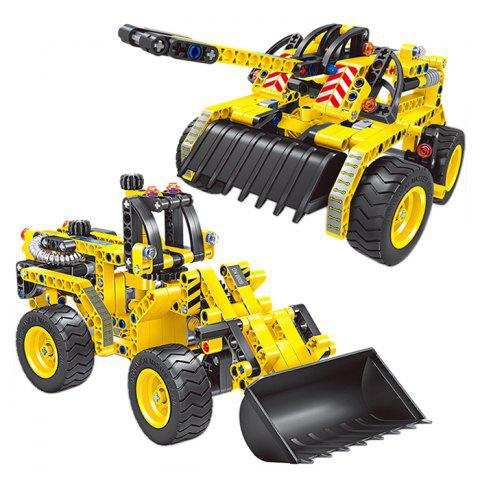 6803 ABS Shop Truck and Tank Double Mode Toy Bricks - RUBBER DUCKY YELLOW