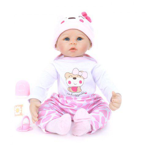 WW - 857 Simulation Soft Silicone Reborn Baby Doll Toy Toy - Cerisier Rose