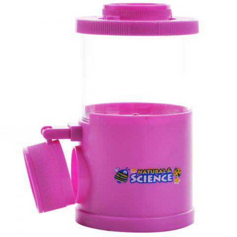Cartoon DIY Insect Observation Scout Cup Magnifying Glass Set Toy - HOT PINK