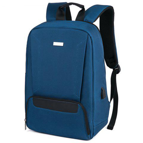 meiletoo 1670B USB Port Design Backpack - PEACOCK BLUE