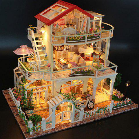 Enduring as the Universe DIY Dollhouse Set for Kids - multicolor