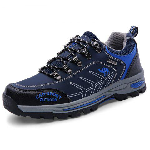 Stylish Outdoor Shock-absorbing Crash Toe Hiking Shoes for Men - LAPIS BLUE EU 40