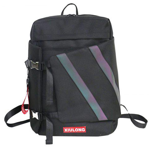 leimande 821a Causal Oxford Fabric Backpack - BLACK 2
