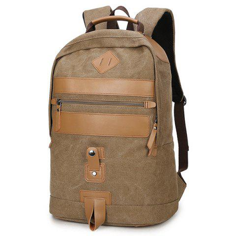 liyongyi 3106 Canvas Men's Backapck - LIGHT KHAKI