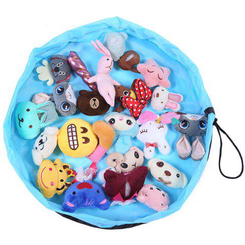 150cm Portable Play Mat Kids Toys Storage Bag - DAY SKY BLUE