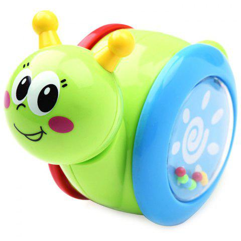 Cartoon Snail Tumbler Doll Baby Toys Cute Rattles Educational Christmas Gift - LAWN GREEN