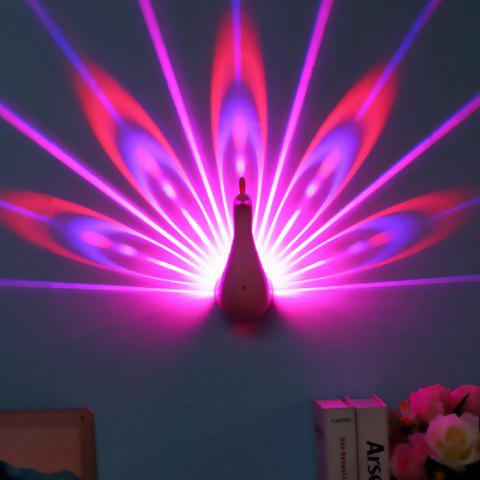 LED Peacock Projection Light with Remote Control - PINK