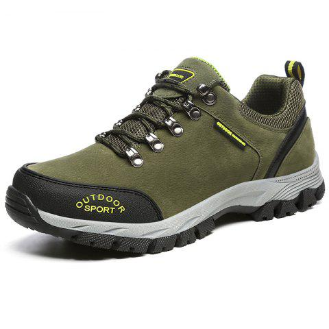 Outdoor Trendy Anti-slip Crash Toe Hiking Shoes for Men - ARMY GREEN EU 39