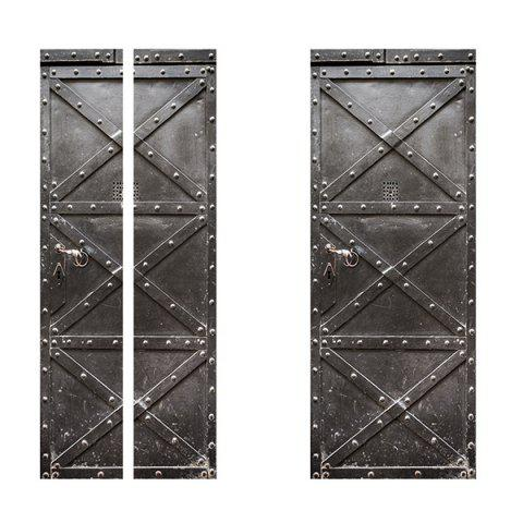 Iron Gate Effect Waterproof Wallpaper for Living Room Bedroom 2pcs - TAUPE