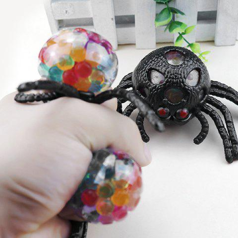 Creative Spider Shape TPR Squeeze Toy 1pc - BLACK